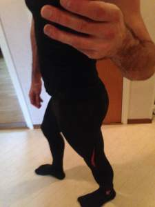Compression tights from Skins (A200).